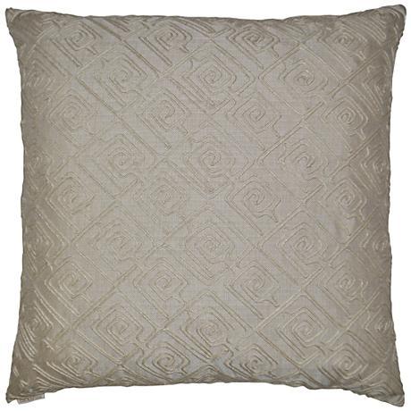 "Columbia Linen 24"" Square Decorative Throw Pillow"