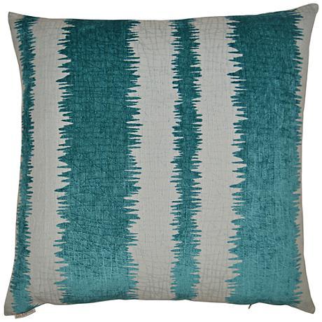 """Kamtra Aqua 24"""" Square Decorative Throw Pillow"""