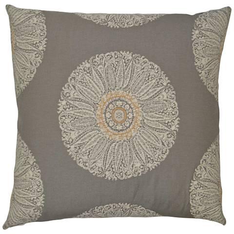 "Crillon Gray 24"" Square Decorative Throw Pillow"
