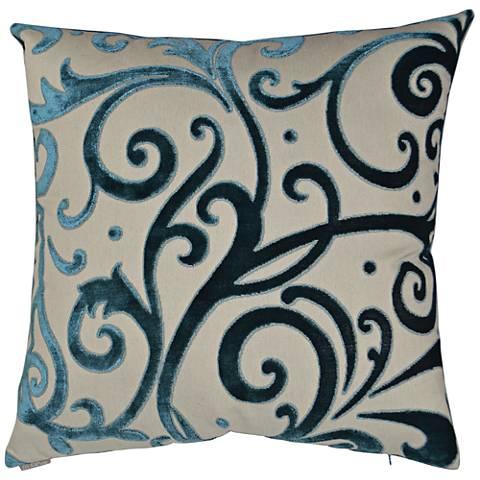 24 Square Throw Pillows : Jubilee Laguna 24