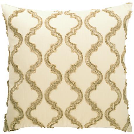 "Infringement Taupe 24"" Square Decorative Throw Pillow"