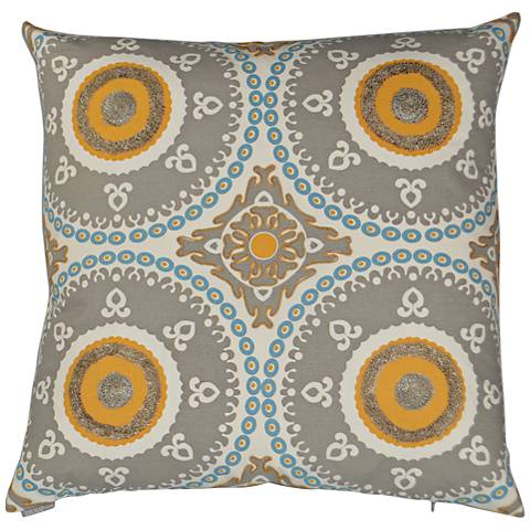 "Guido Gray 24"" Square Decorative Throw Pillow"