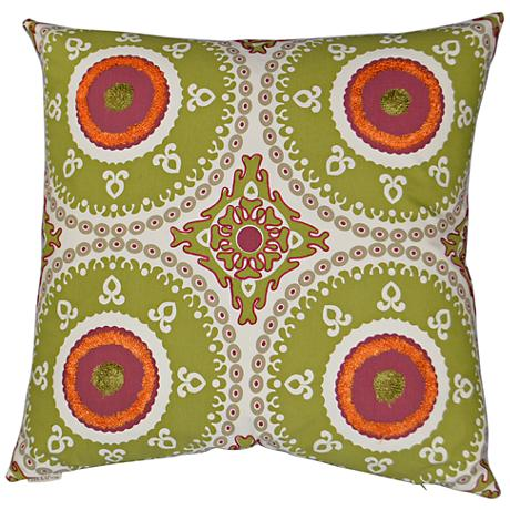 """Guido Lime 24"""" Square Decorative Throw Pillow"""