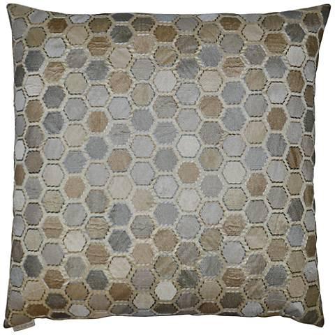 "Gem Market Alabaster 24"" Square Decorative Throw Pillow"
