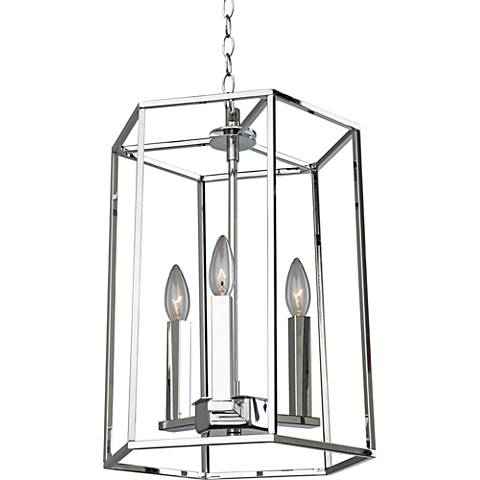 "Modern Elegance 12 1/2""W Chrome 3-Light Chandelier"