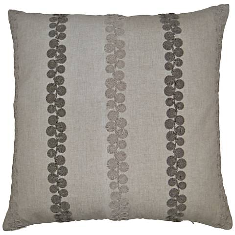 """Whitefield Linen 24"""" Square Decorative Throw Pillow"""