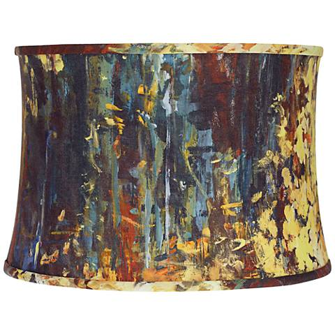 Oil Painting Softback Drum Lamp Shade 15x16x11 (Spider)