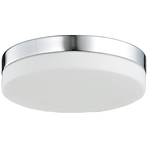 "Avenue Cermack St. 9"" Wide Chrome Round LED Ceiling Light"