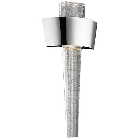 "Avenue Glacier Ave. 23 1/2""H Curved Nickel LED Sconce"
