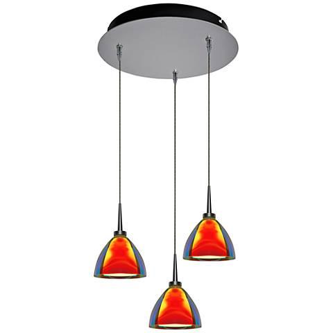 """Rainbow 4 1/2"""" Wide Sunrise Glass LED Multi Light Pendant"""