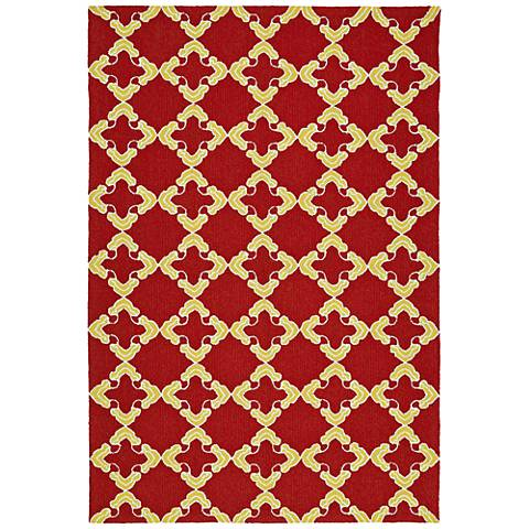 Kaleen Escape ESC01-25 Red Outdoor Area Rug