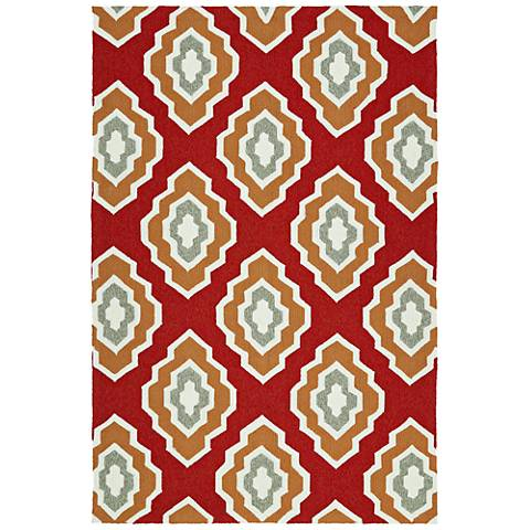 Kaleen Escape ESC02-25 Red Outdoor Area Rug