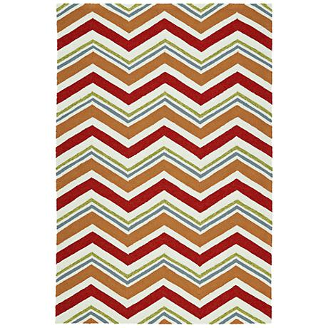 Kaleen Escape ESC05-25 Red Outdoor Area Rug