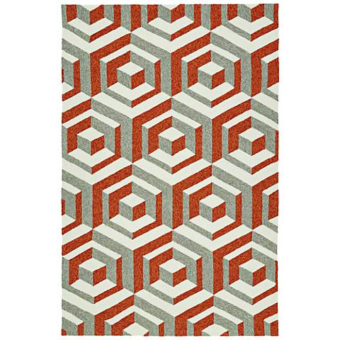 Kaleen Escape ESC06-53 Paprika Outdoor Area Rug