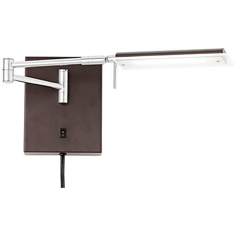 Offerman Brown LED Task Swing Arm Wall Lamp