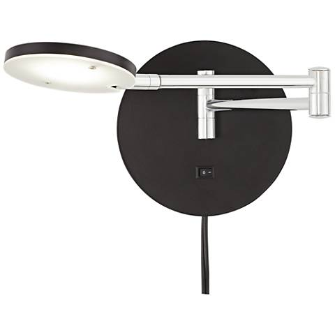 Foreston Black LED Task Swing Arm Wall Lamp