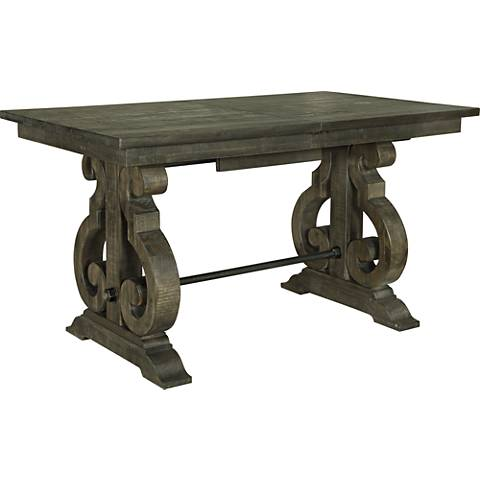 Bellamy Weathered Pine Extendable Counter-Height Dining Table