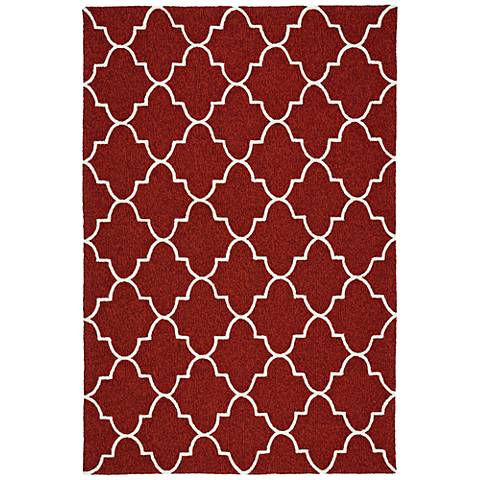 Kaleen Escape ESC09-25 Red Outdoor Area Rug