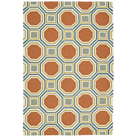Kaleen Escape ESC11-31 Pumpkin Outdoor Area Rug