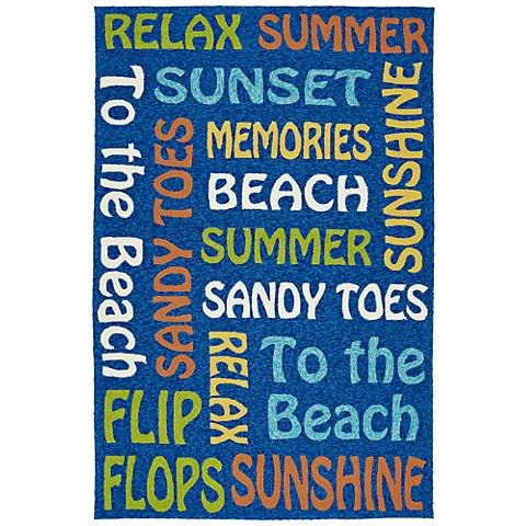 Kaleen Escape ESC12-17 Blue Outdoor Area Rug