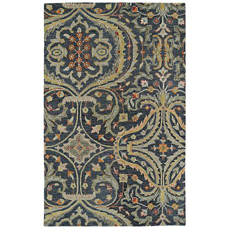Kaleen Helena 3206-73 Pewter Wool Area Rug