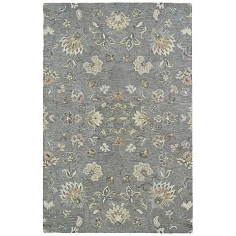 Kaleen Helena 3208-75 Gray Wool Area Rug