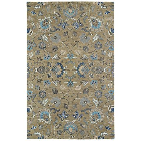 Kaleen Helena 3208-82 Light Brown Wool Area Rug