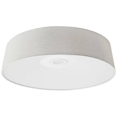 "Avenue Cermack St. 24"" Wide Ivory Linen LED Ceiling Light"