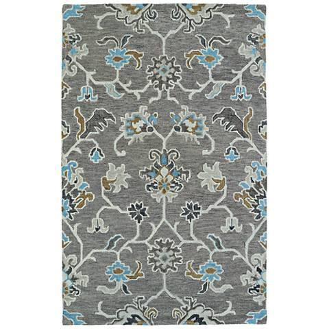 Kaleen Helena 3209-75 Gray Wool Area Rug