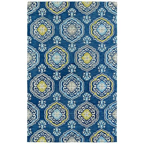 Kaleen Helena 3211-17 Blue Wool Area Rug
