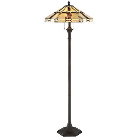 Lite Source Mircea Dark Bronze Tiffany-Style Floor Lamp