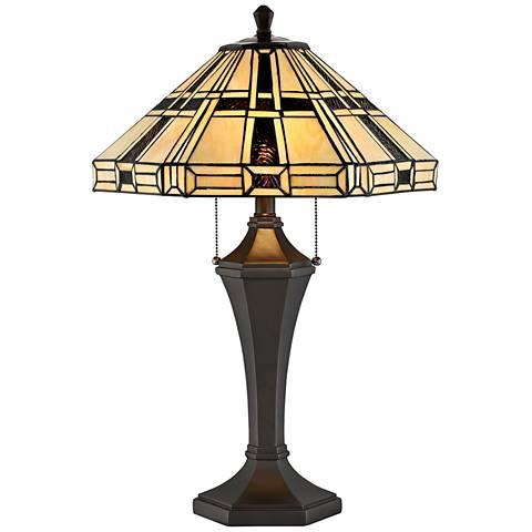 Lite Source Mircea Dark Bronze Tiffany-Style Table Lamp