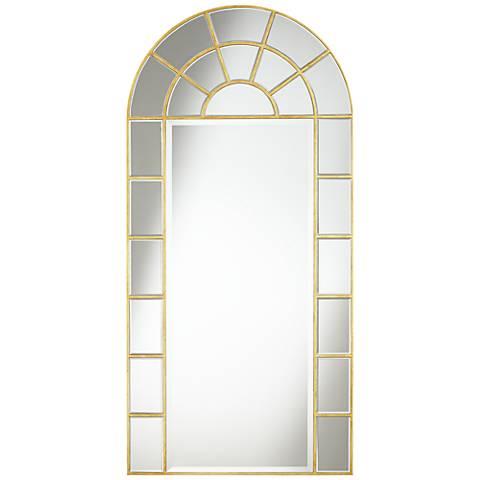 """Brett Gold Leaf 30"""" x 62"""" Arch Wall Mirror"""