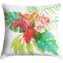 """Island Floral 18"""" Square Throw Pillow"""