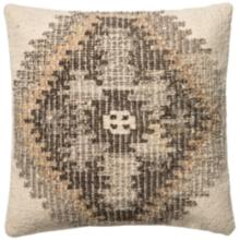 """Global Traveler Ivory Tribal 22"""" Square Accent Pillow"""