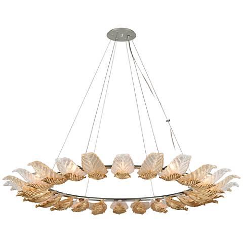 """Corbett Anello 56 1/2"""" Wide Gold Leaf Pendant Light"""