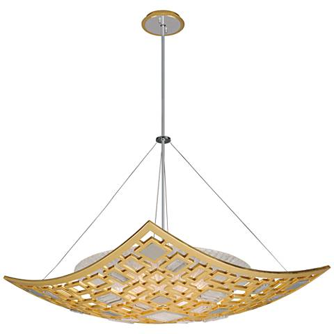 "Corbett Motif 33 3/4"" Wide Gold Leaf Pendant Light"