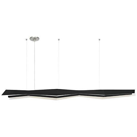 "Tech Lighting Jorn 55"" Wide Black LED Island Pendant"