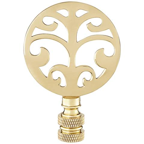 Polished Brass Tree Lamp Shade Finial