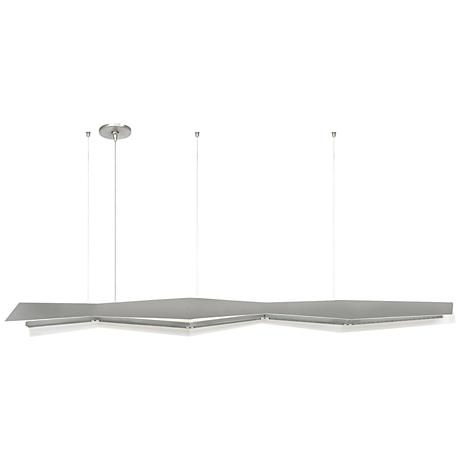 "Tech Lighting Jorn 55""W Satin Nickel LED Island Pendant"