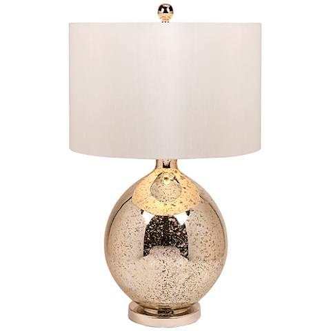 Avignon Mercury Glass Round Table Lamp