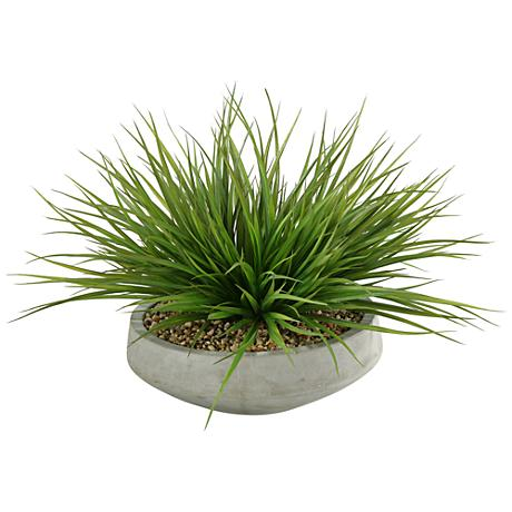 """Wild Grass 24""""W Faux Plant in Contemporary Bowl"""