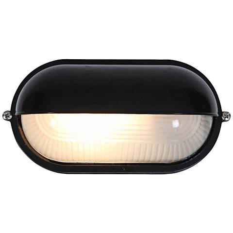 """Nauticus 4 1/4"""" High Shaded Black LED Outdoor Wall Light"""