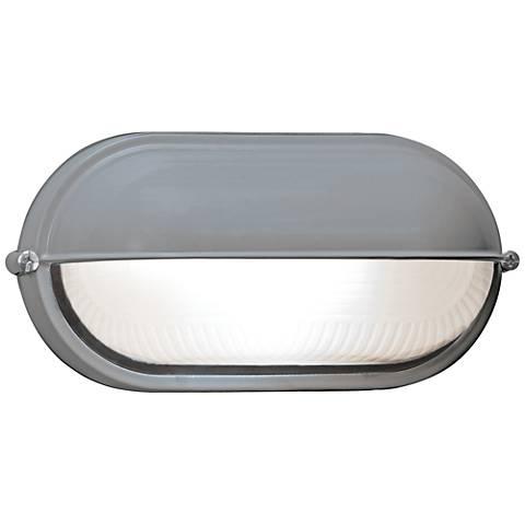 "Nauticus 4 1/4"" High Shaded Satin LED Outdoor Wall Light"