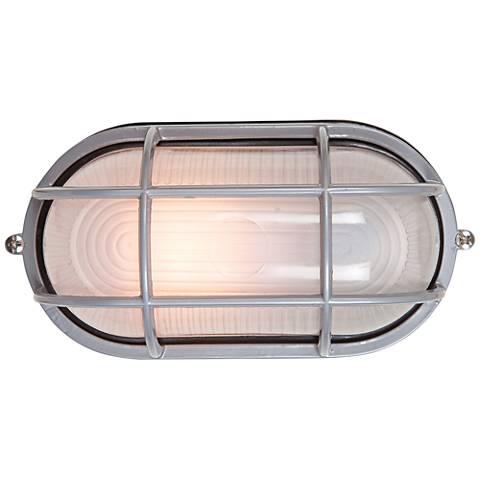 "Nauticus 6 1/2"" High Satin LED Outdoor Wall Light"