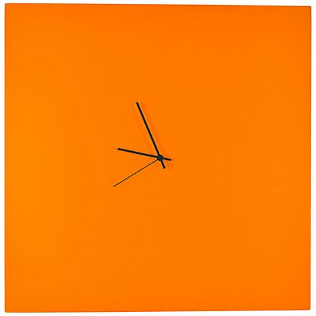 """Orangeout Aluminum with Black Hands 23"""" Square Wall Clock"""