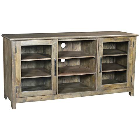 Yosemite Home Decor Charcoal Wood 2-Door Media Console