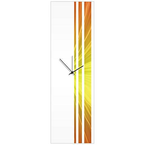 "Triple Stripe Sunshine 30"" High Rectangular Wall Clock"