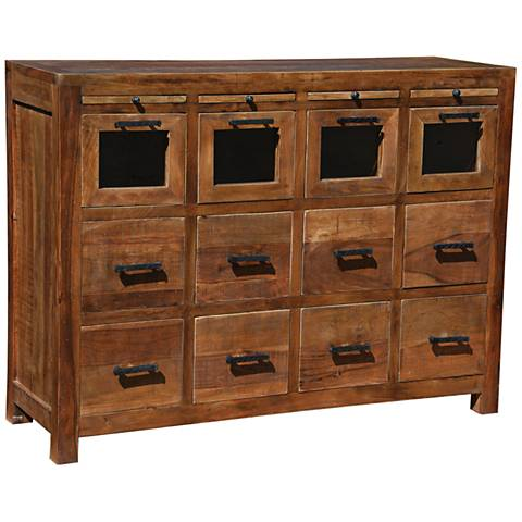 Yosemite Home Decor Woodgrain Craftsman 12-Drawer Cabinet