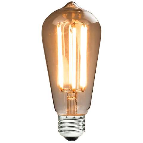 40 Watt Equivalent Amber 6 Watt LED Dimmable Edison Bulb